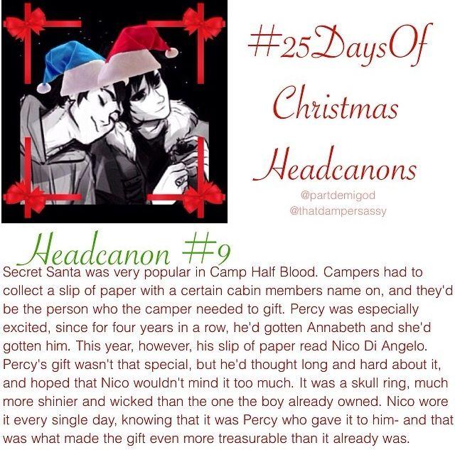 Christmas Headcanon 9 Percy Jackson Books Percy Jackson Memes Percy Jackson Funny