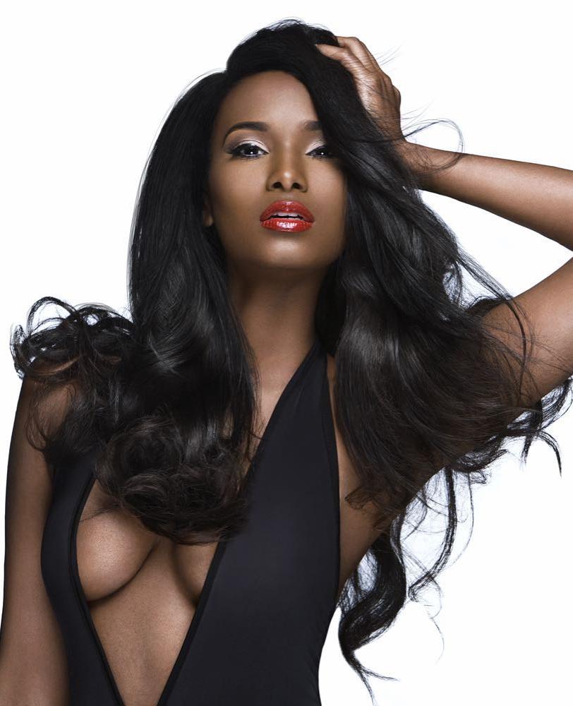 Model black hair