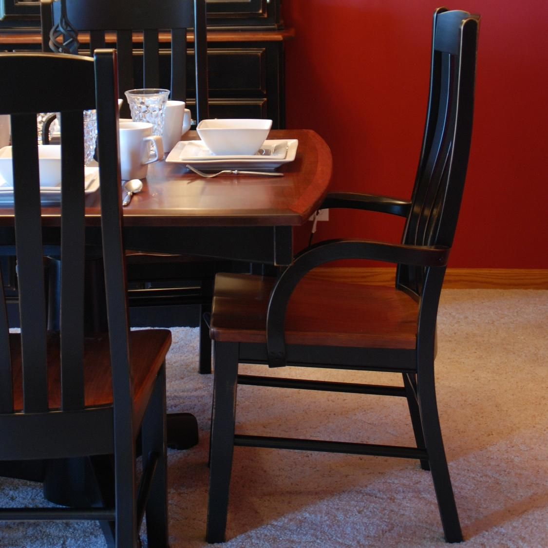 Casual Dining Contour Arm Chair By Oakwood Industries Available At Www Muellerfurniture Com Or