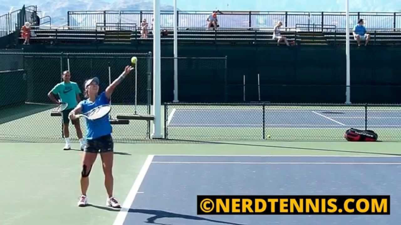 Li Na Practice Court Level Side Front View Slow Motion Hd Court Motion Practice
