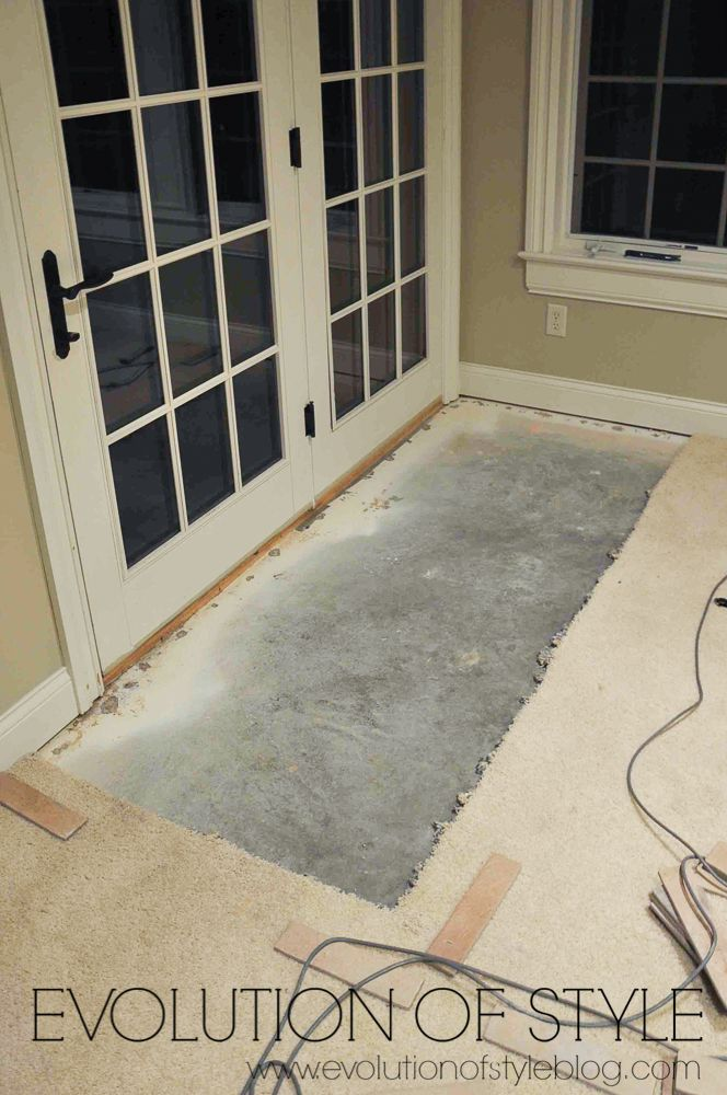how to install carpet tiles on concrete
