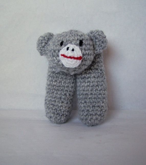 Two Finger Sock Monkey Puppet by DaydreamDestination on Etsy, £6.00