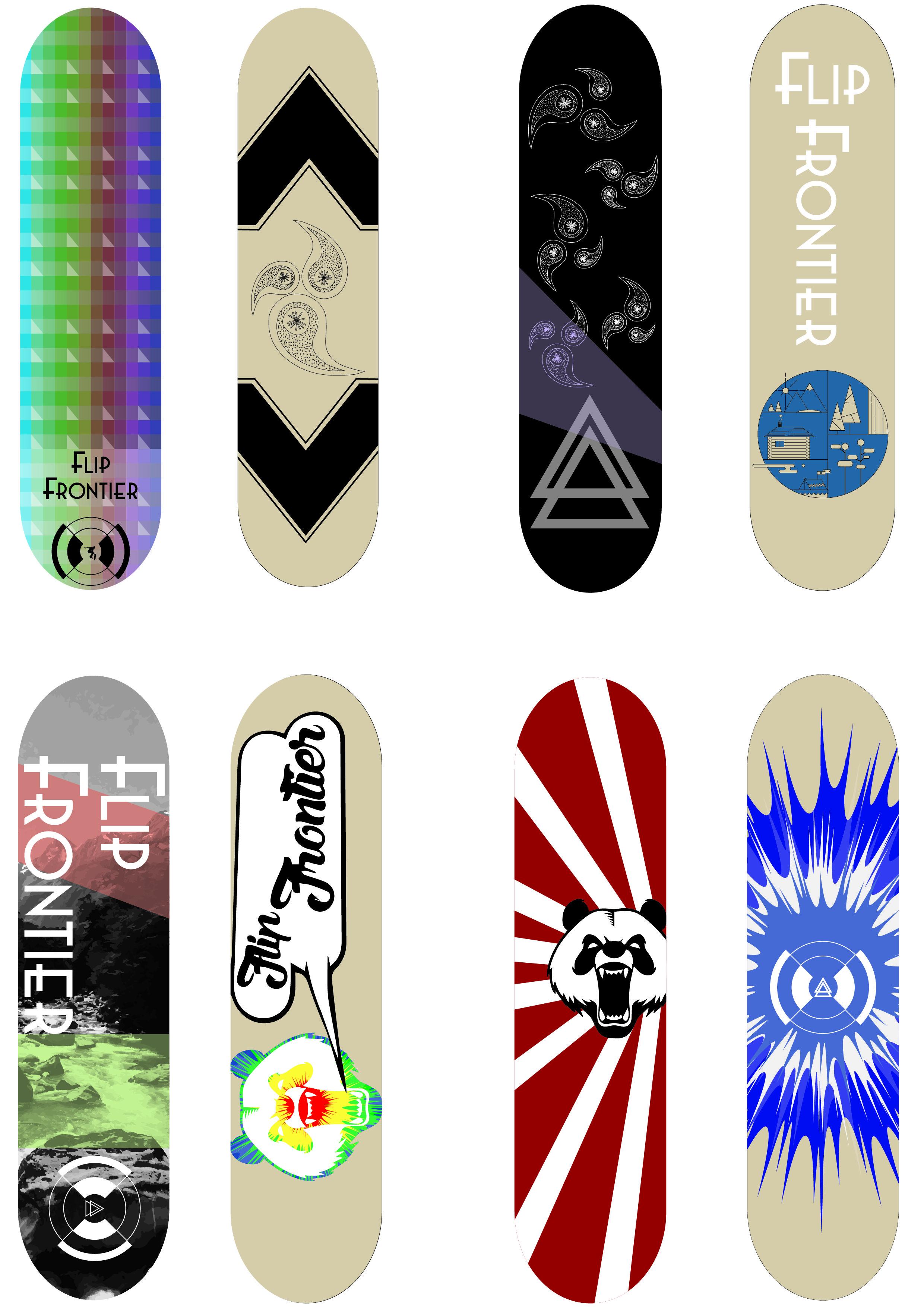I designed some skateboards yeah skateboard art my