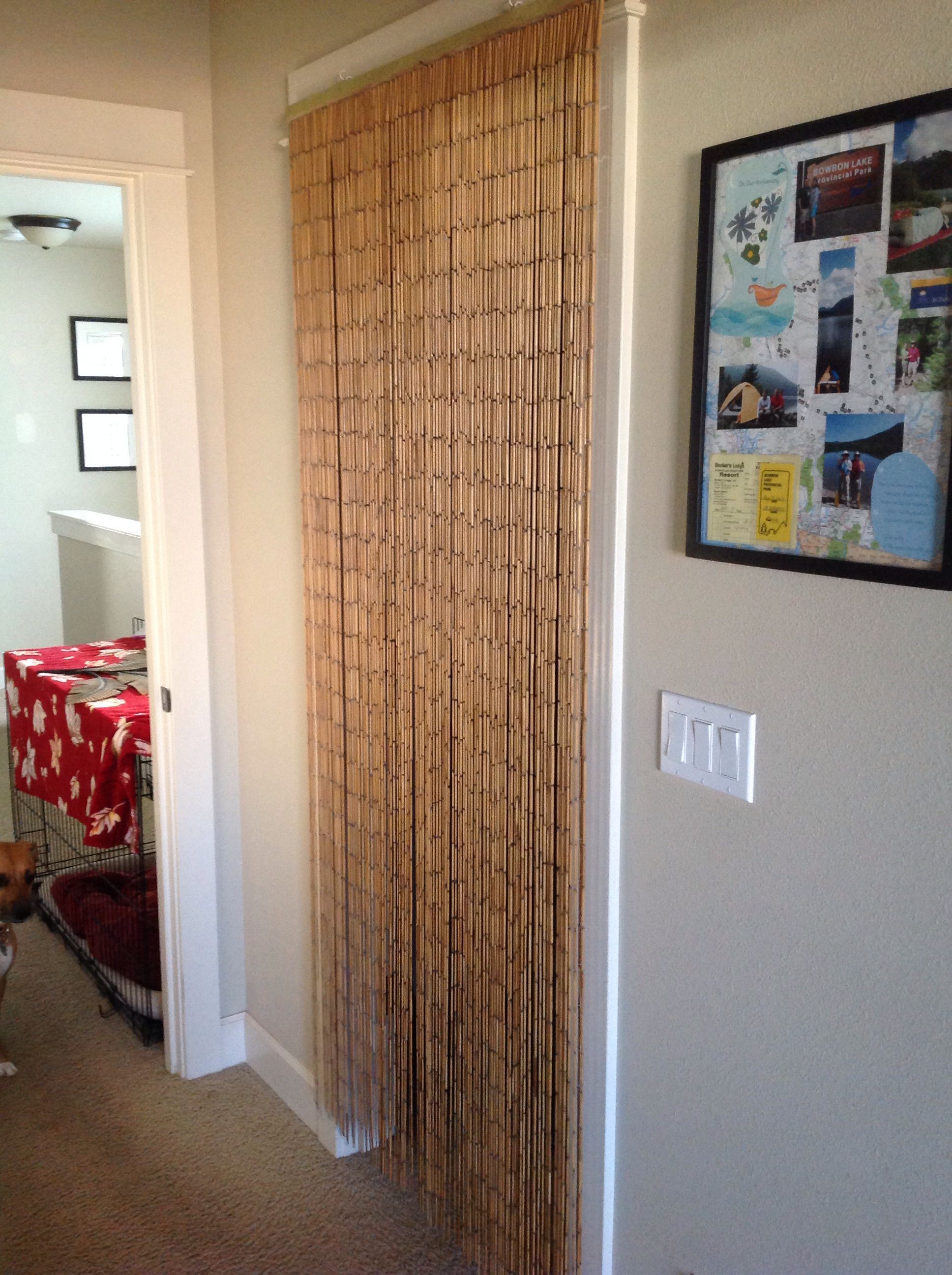 Replaced The Closet Door That Was Always In The Way With A Bamboo