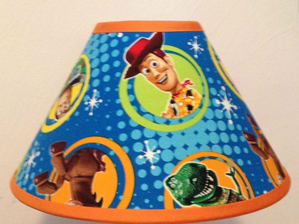 Disney Toy Story Custom Fabric Children S Lamp Shade Handmade Stained Glass Lamp Shades Small Lamp Shades Shabby Chic Lamp Shades