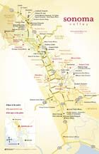 Printable Sonoma Valley Winery Map Hours And Contact Info Are On