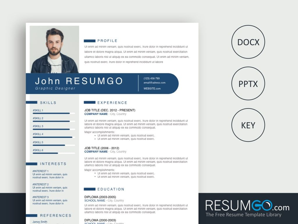 Theron free blue ribbon resume template resumgo