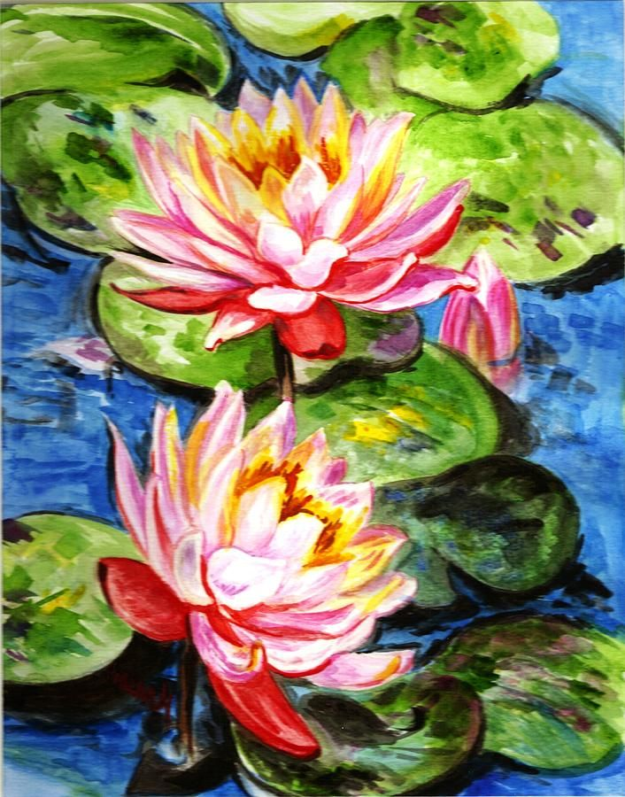 Famous Paintings Water Lilies | Water Lilies Painting by ...