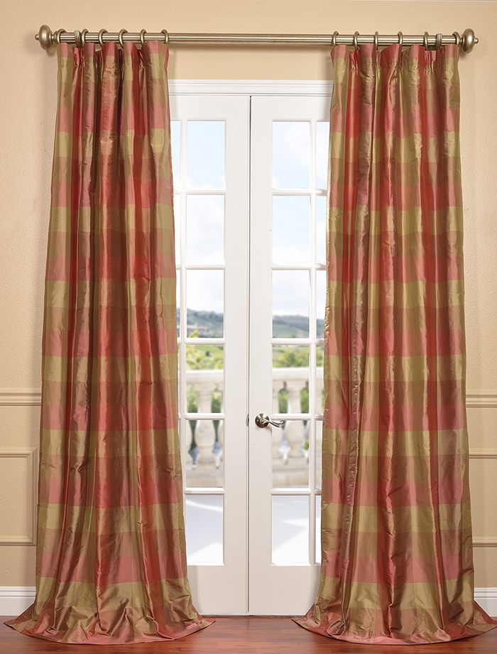 red dinning curtains room living item drapes chenille thick plaid for window scotland bedroom luxury