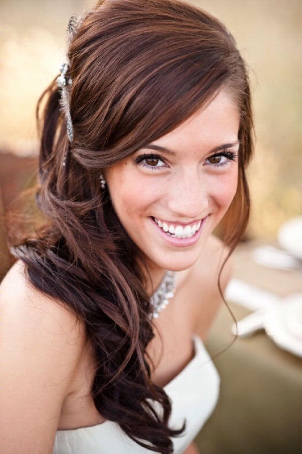 wedding hairstyle side hair | hairstyle | pinterest | wedding