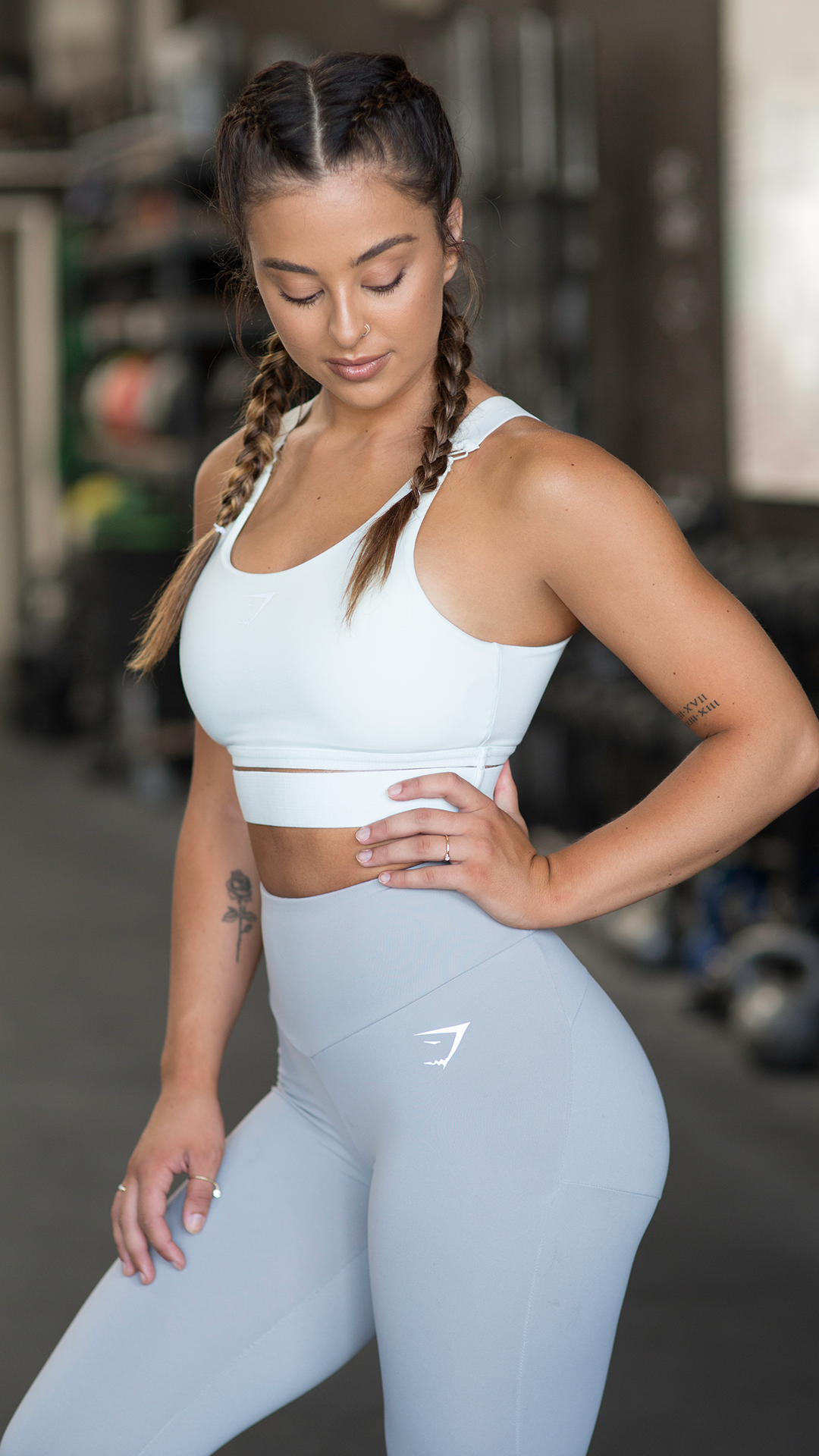 c40481b509 The Embody Sports Bra    Seafoam Green.  Gymshark  OutfitInspiration   Workout  Fitness  Pastel  SportsBra  HighWaisted  Leggings