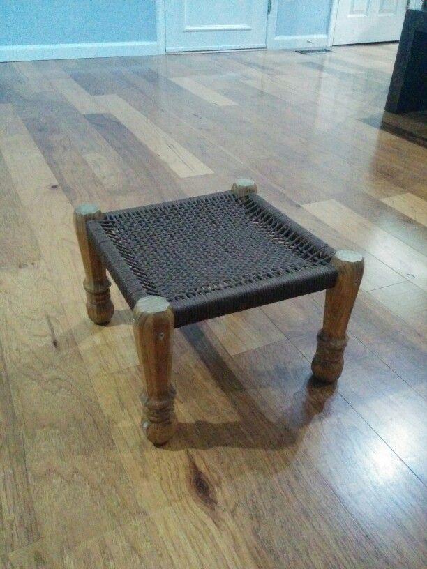 Woven wooden Stool