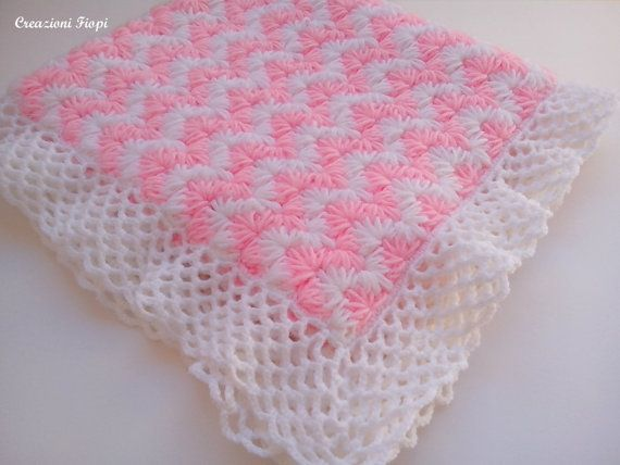 Crochet PATTERN Baby Blanket/crochet zig zag puff stitch/ Tutorial ...