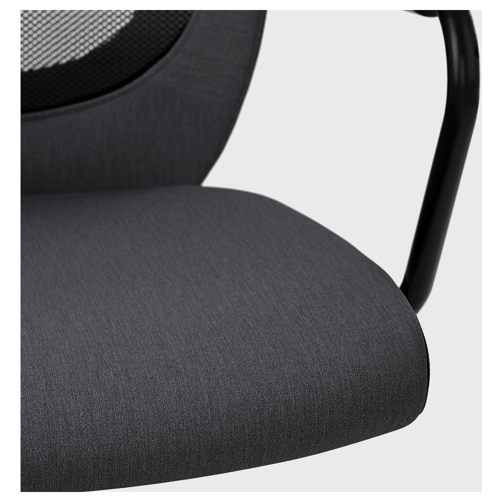 IKEA FLINTAN NOMINELL Office chair with armrests gray