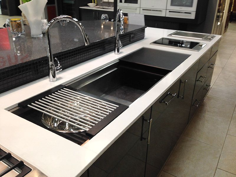 Kitchen Ideas Tulsa Galley Sink galley workstation stainless kitchen sink with black cutting