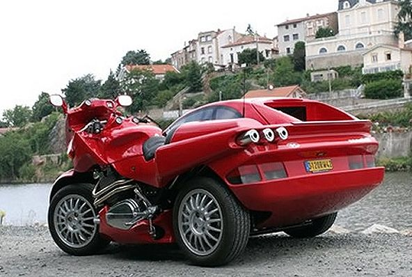 Snaefell Laverda Sidecar That Looks Like A Red Sports Car BMW - Sports cars and bikes