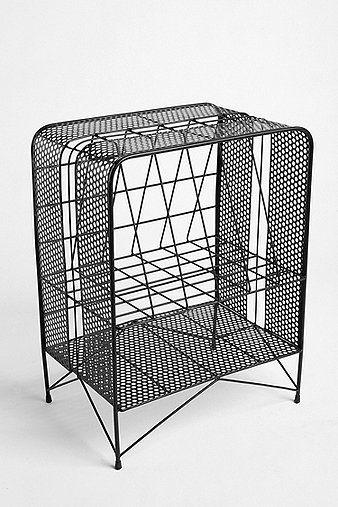 casier de rangement en fil de fer pour disques  noir