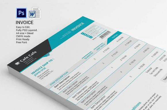business invoice template by graphicalark on creativework247