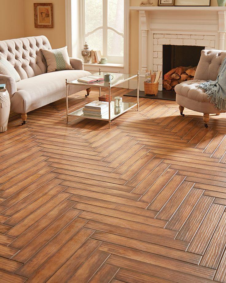 Marazzi's 4 x 28 Montagna wood-look tile in Caramello. - Marazzi's 4 X 28 Montagna Wood-look Tile In Caramello. Get