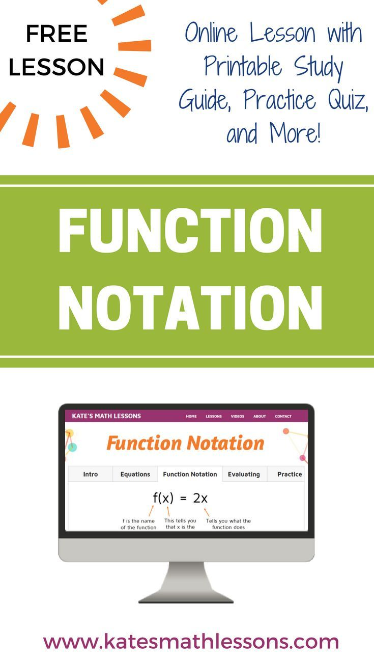 Function Notation Pinterest Algebra Maths And Algebra Lessons