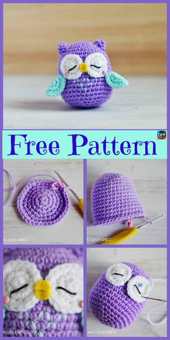 12 Cutest Crochet Amigurumi Owl Free Patterns #amigurumifreepattern