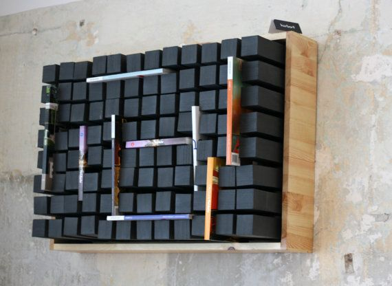 Modern wall bookshelf  industrial furniture  door SturlesiDesign, ₪1500.00