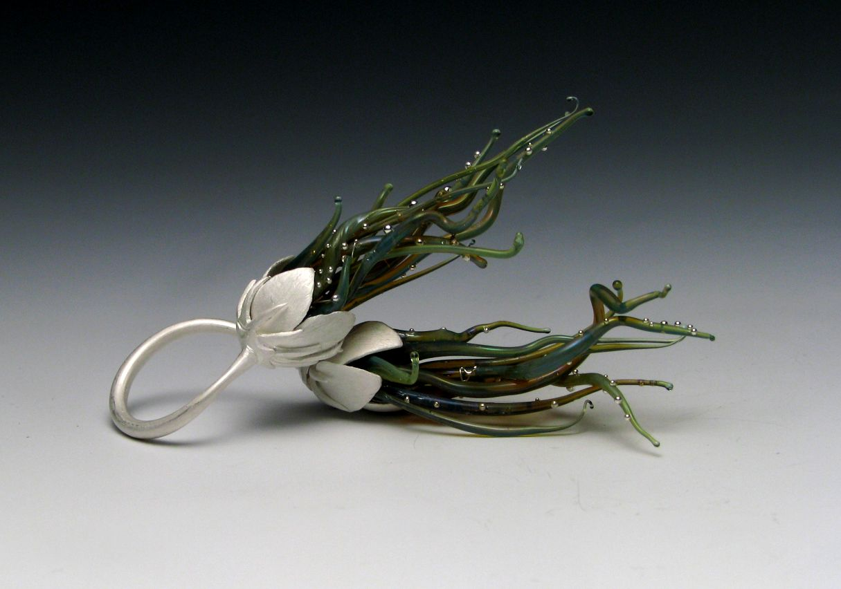 Heather Thompson : sterling silver, glass, fine silver