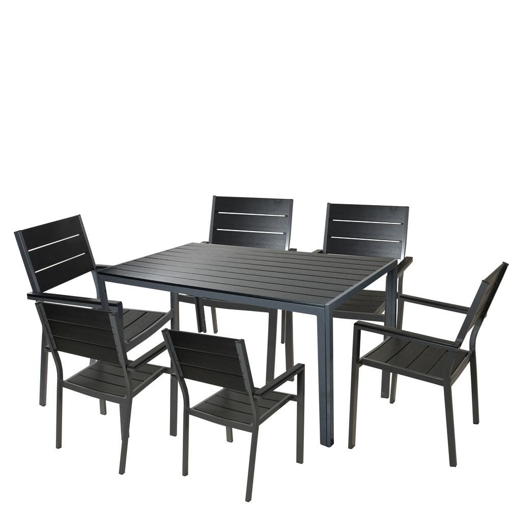 CC Outdoor Living 7 in. to Piece Black and Gray Outdoor ... on Cc Outdoor Living id=36380