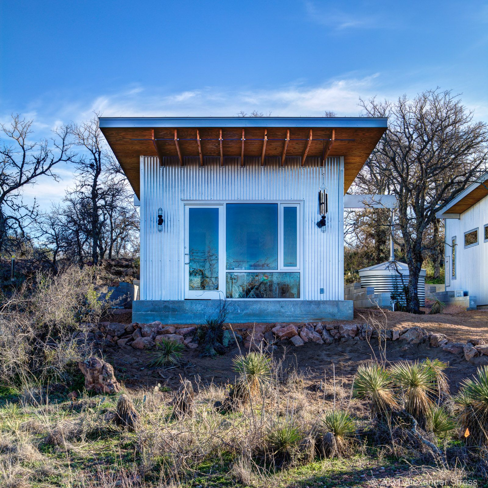 Friends build a tiny house pound in the middle of nowhere they call Bestie Row