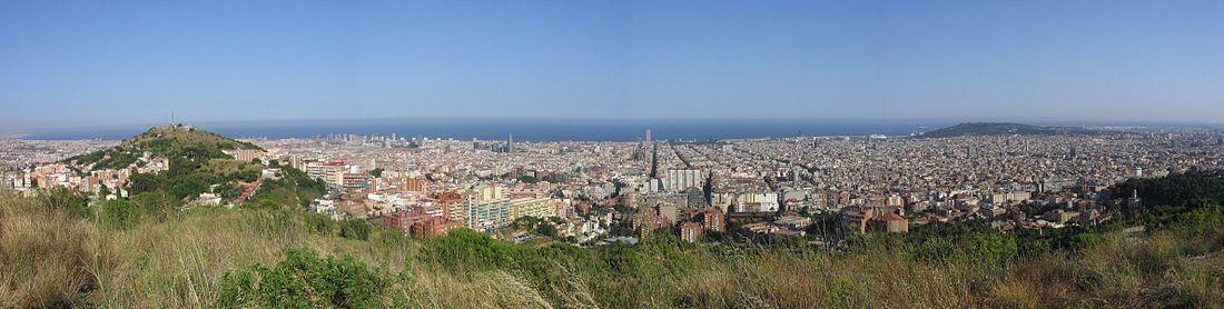 Vistas de Barcelona desde el Monte Carmelo