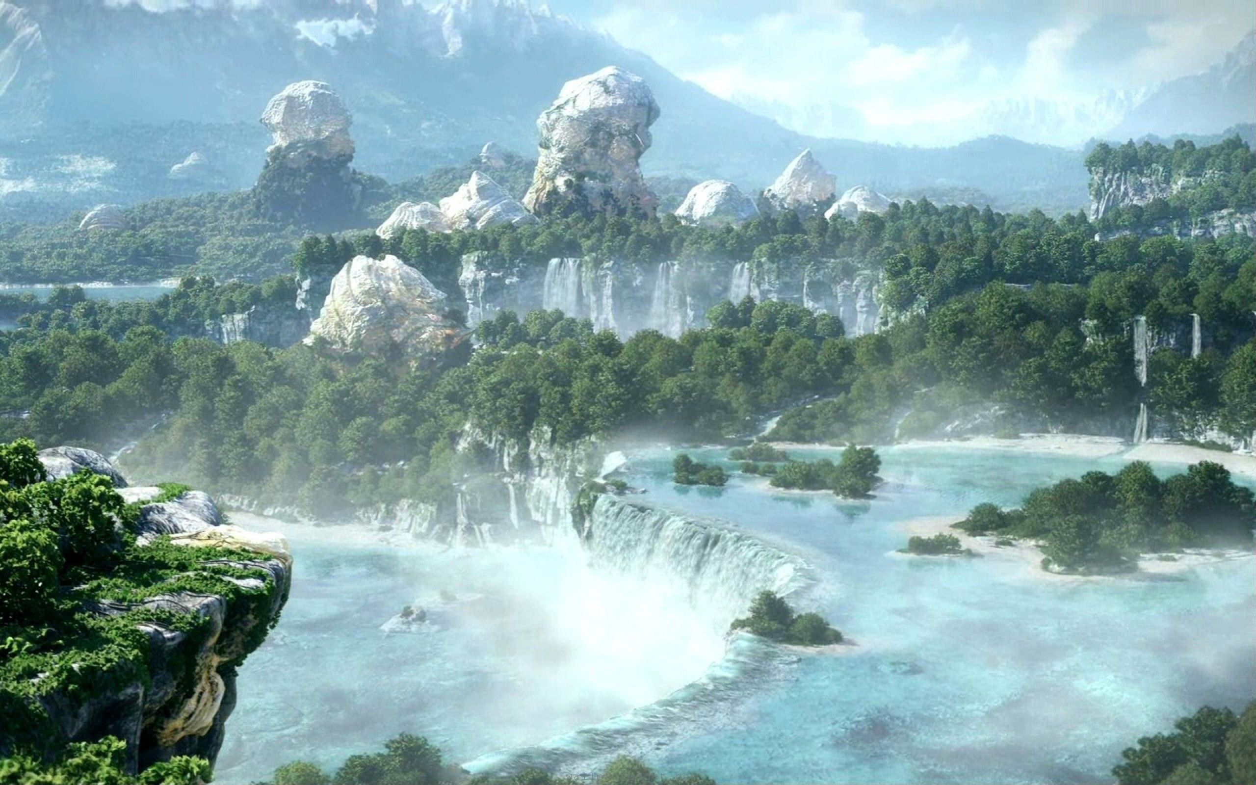 Final Fantasy Landscape Wallpapers Picture With High Resolution Wallpaper 2560x1600 Px 66793 KB