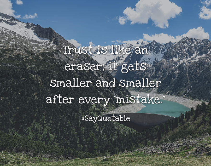 Quotes About Trust Is Like An Eraser; It Gets Smaller And Smaller After  Every U0027mistake.u0027 With Images Background, Share As Cover Photos, Profile  Pictures On ...