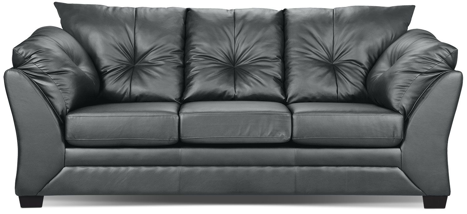 Relax To The Max With This Comfortable Faux Leather Sofa Covered In Durable And Filled Fibre Batting Wred Foam Cushions