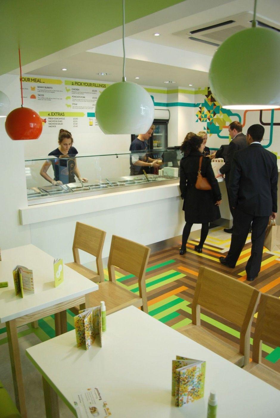 Multicoloured Interior Design For A Mexican Food Restaurant Poncho No