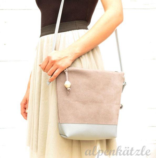 Ledertaschen - Ledertasche/Ledertäschchen/Echtledertasche*FIONA* - ein Designerstück von Alpenkaetzle bei DaWanda