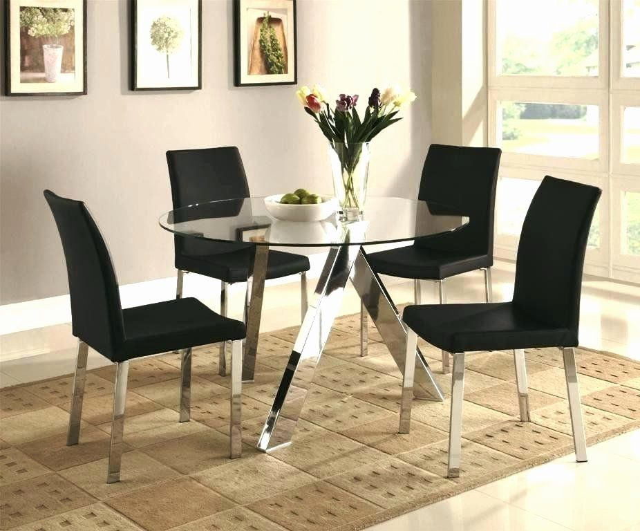 Ikea Living Room Glass Table Unique Round Glass Dining Table Set Onebigtiger Di 2020 Kursi Makan Meja Makan Bulat Set Ruang Makan