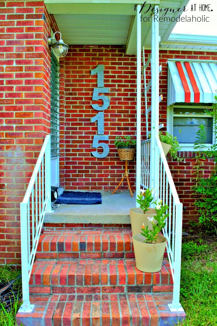 Faux Brushed Nickel Modern House Numbers House Curb appeal and