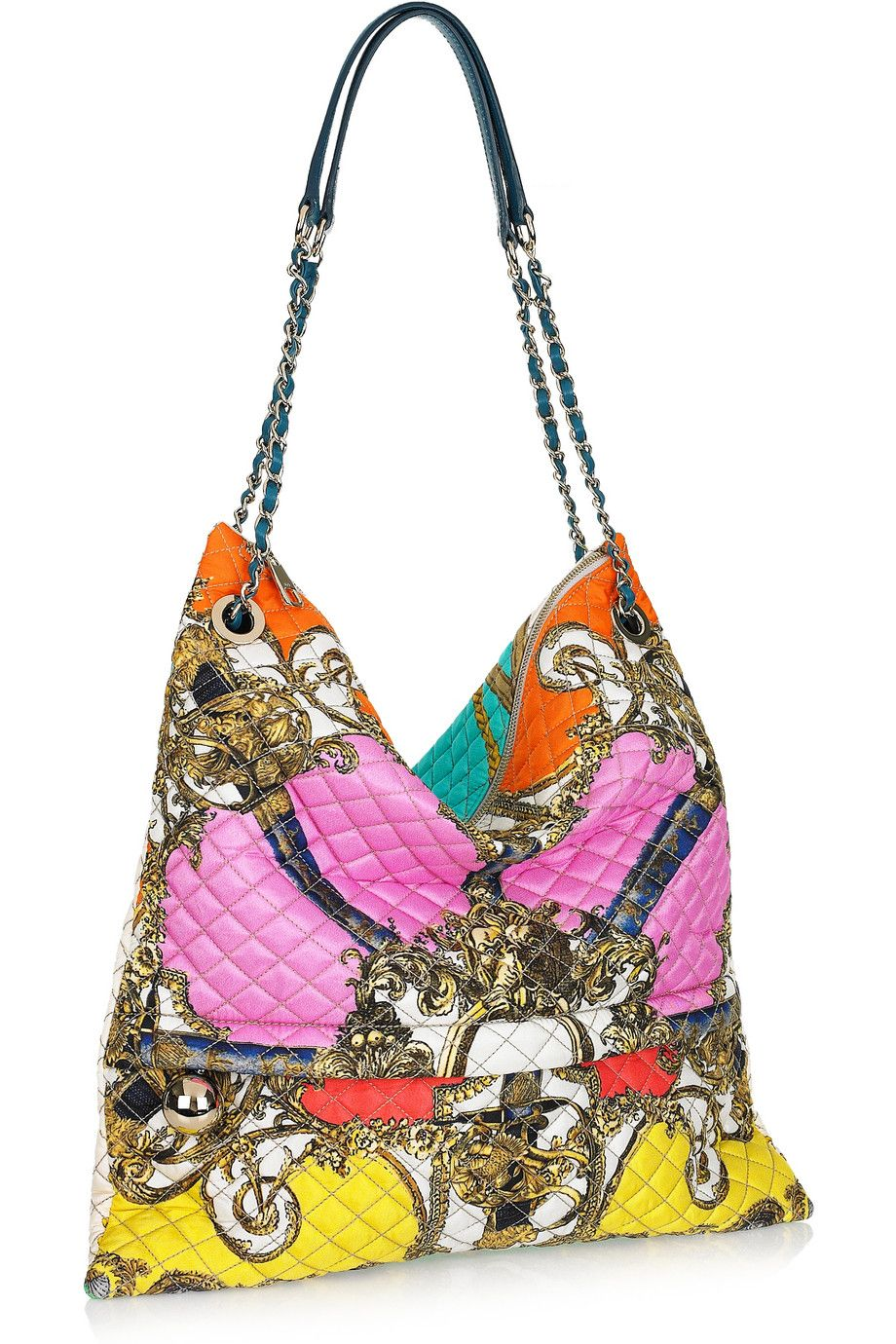 $955  Dolce and Gabbana | Printed quilted silk-twill shoulder bag | NET-A-PORTER.COM