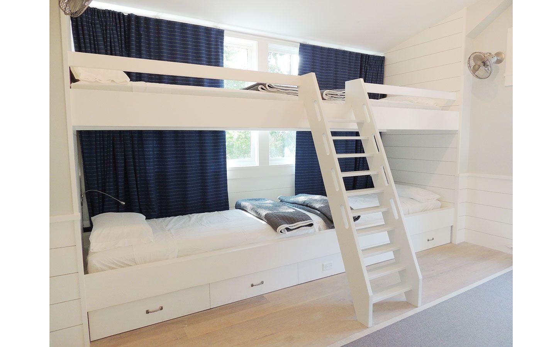 Children S Bedroom Featuring Custom Built In Bunk Beds With