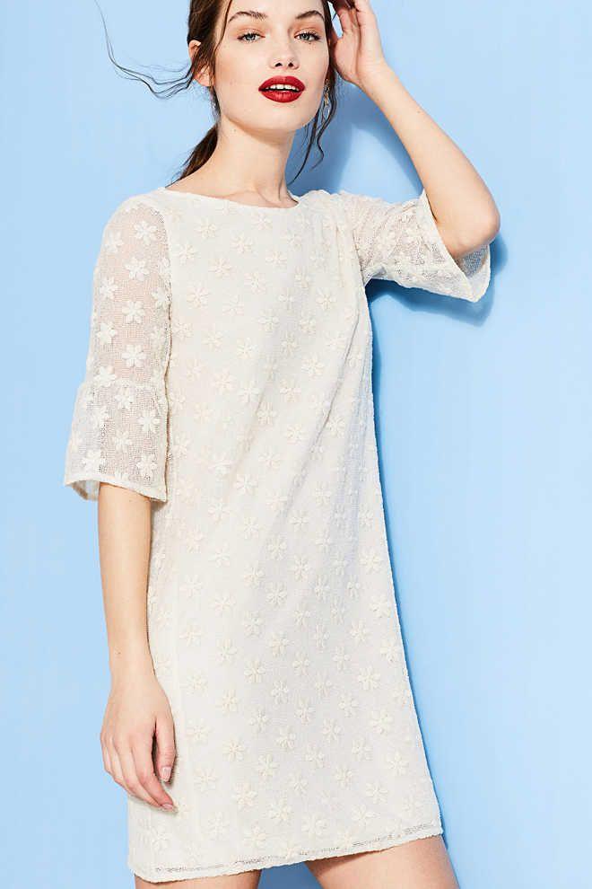 d97bd8232f1e53 Esprit   Romantische jurk van elastische kant