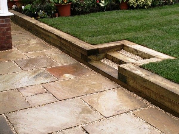 Garden Sleepers Ideas Garden Retaining Wall Ideas Wooden Steps