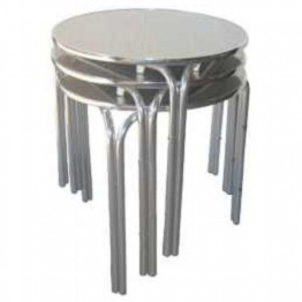Cafe Outdoor Furniture   Stacking Tables   Aluminium