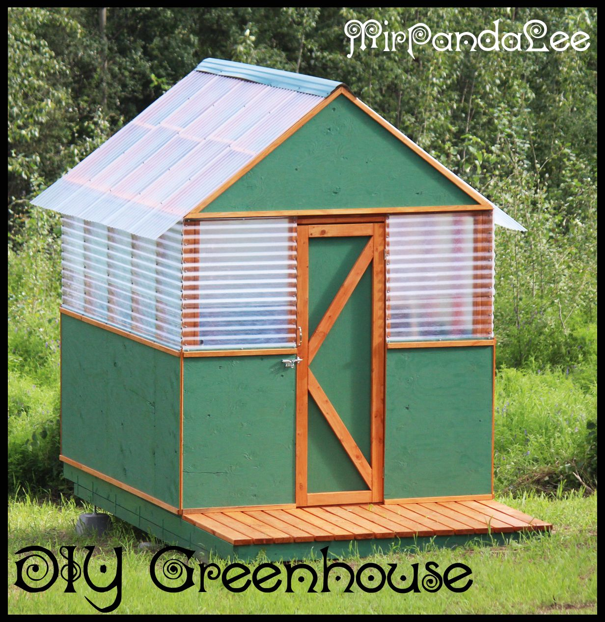 Greenhouse made from 4x4 pressure treated wood and for Concrete block floor