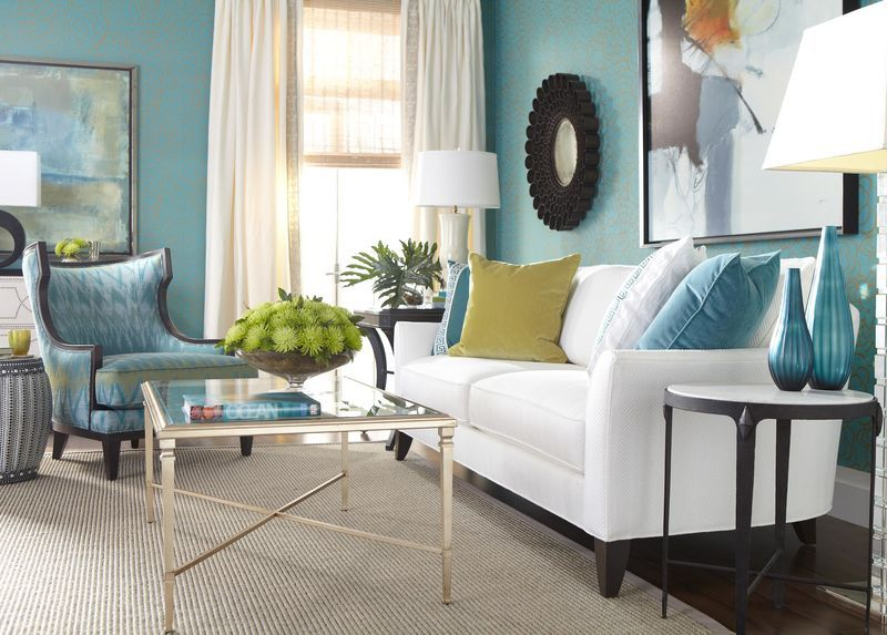 Small Teal Ribbed Vase Living Room Turquoise Living