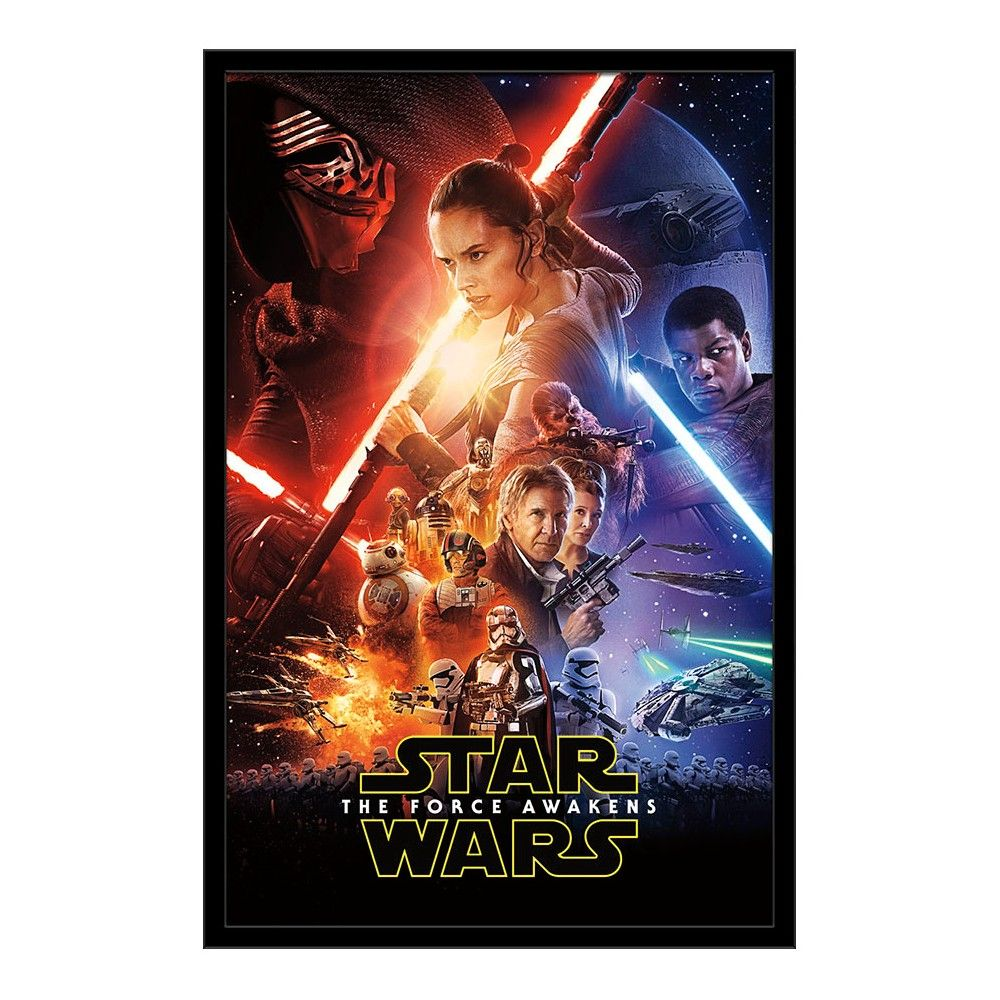 Swtfa One Sheet 24x36 Framed Poster Trends International In 2021 Force Awakens Poster Star Wars Watch Star Wars Episode Vii