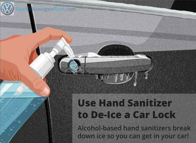 Did you know you can use hand sanitizer to de-ice a frozen