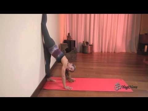 hanumanasanamonkey pose against the wall  yoga for