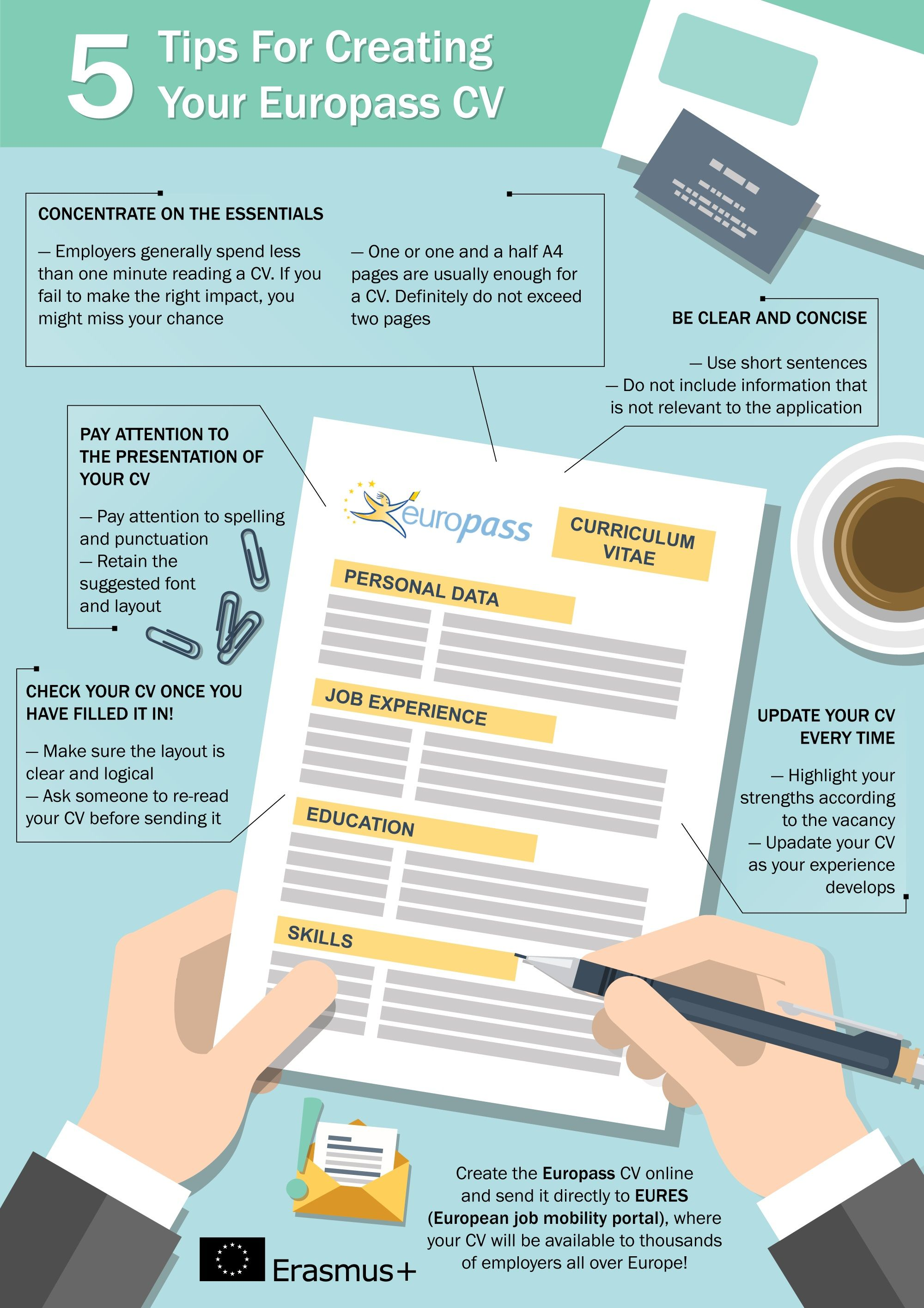 Use the EuropassCV efficiently! Tips for jobseekers.