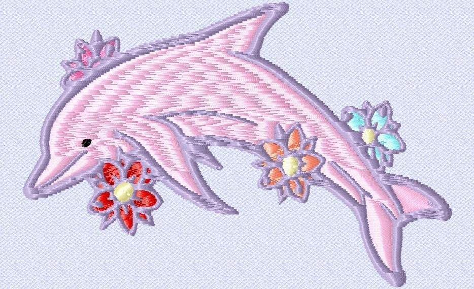 Fleurs Et Dauphin Free Embroidery Designs Pinterest Embroidery