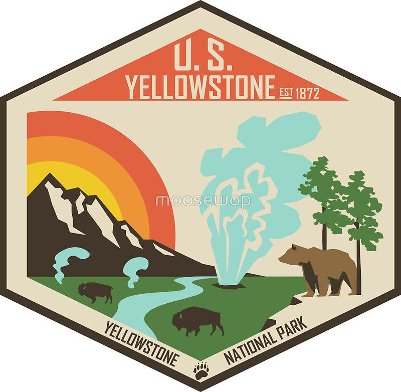 Yellowstone National Park Sticker Outdoor stickers